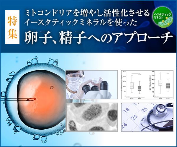 イースタティックミネラルを使った卵子、精子へのアプローチ